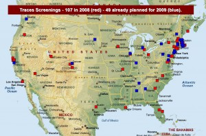 Map of Traces of the Trade screenings