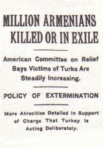 N.Y. Times coverage of the Armenian genocide