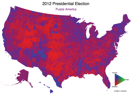 The purple United States 2012