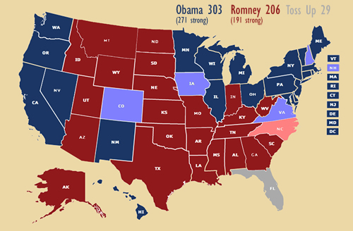 Electoral college map (analysis)